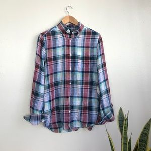 GANT Linen Plaid Button Down
